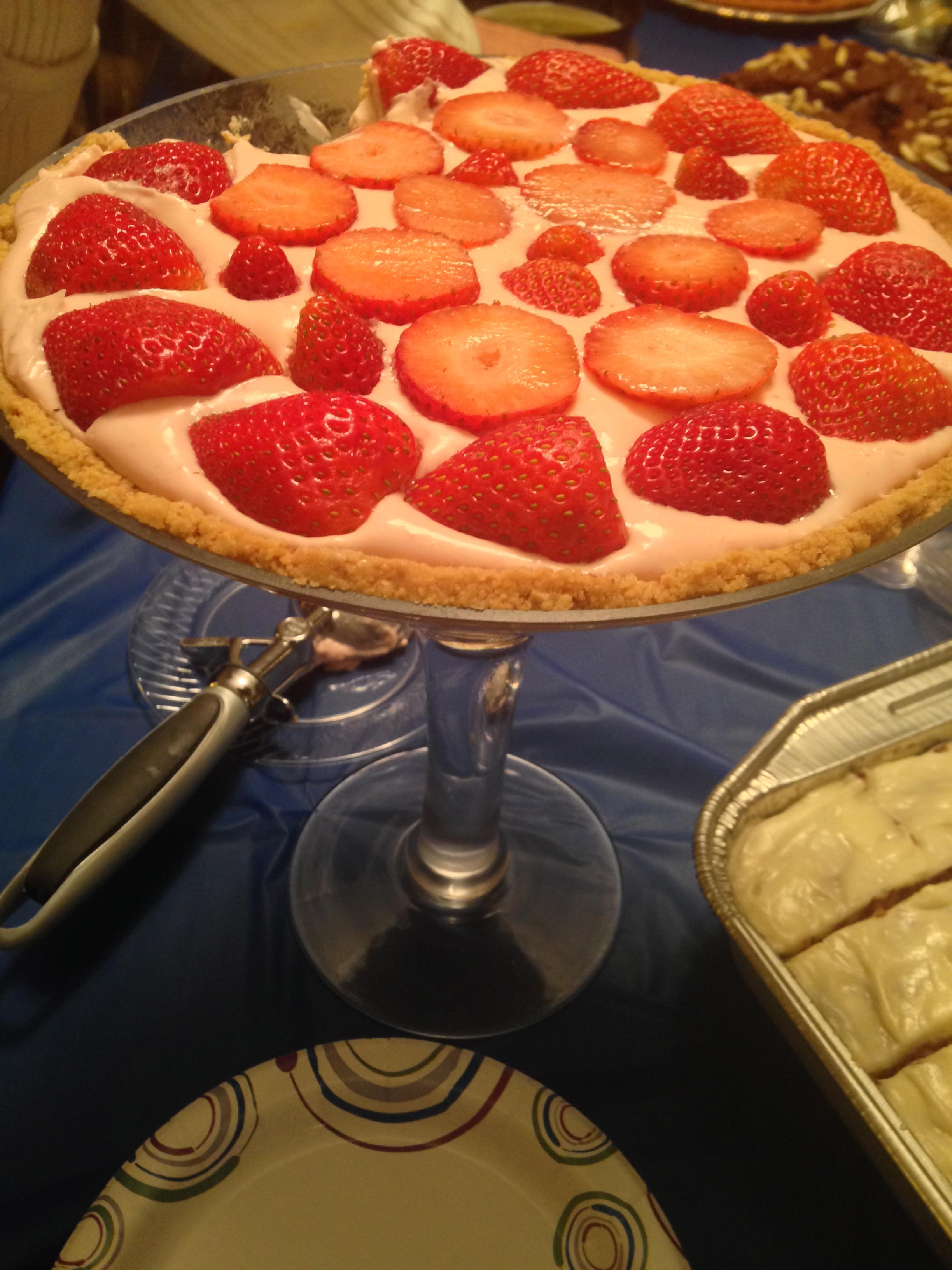 Strawberry martini cheese cake 1